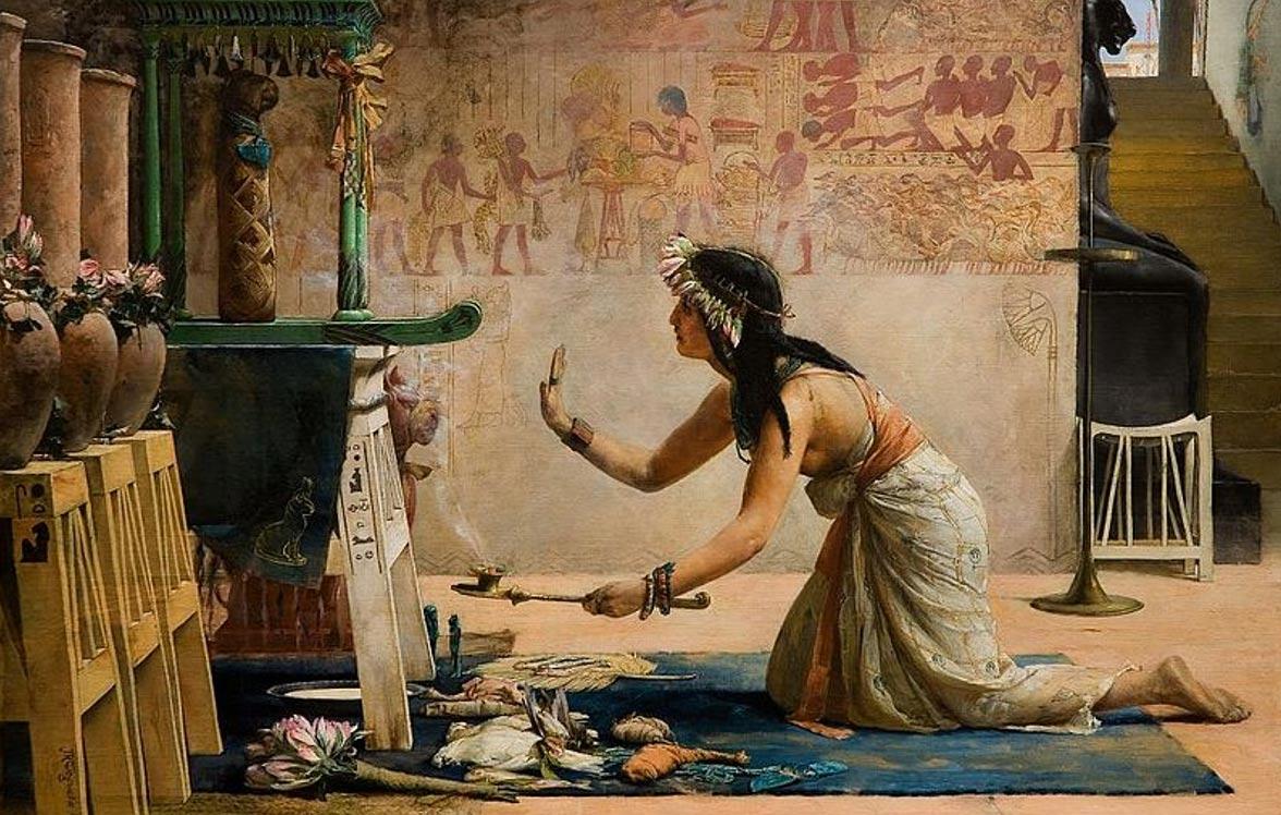 Antik Mısır'da kediler kutsal varlıklar olarak görülüyordu.