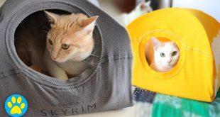 Kendin Yap: Eski Tişörtten Kedi Çadırı Yapımı